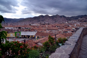 Partial view of Cusco.