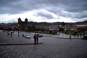 Plaza de Armas (the main plaza) in the daytime.