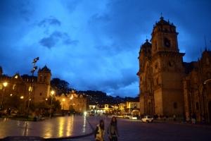 Plaza de Armas at night.