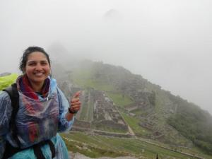 Cloudy selfie with my homie Machu Picchu. PC: Amanda Hermans