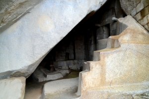 Some of the constructions you'll see (like this stone ladder) have been chiseled from one gigantic rock.