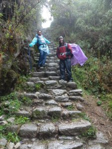 There were so many steep stairs! And most were slippery because of the rain...we had to tread very carefully. PC: Amanda Hermans