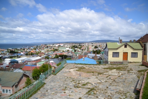 Colorful houses near downtown Punta Arenas